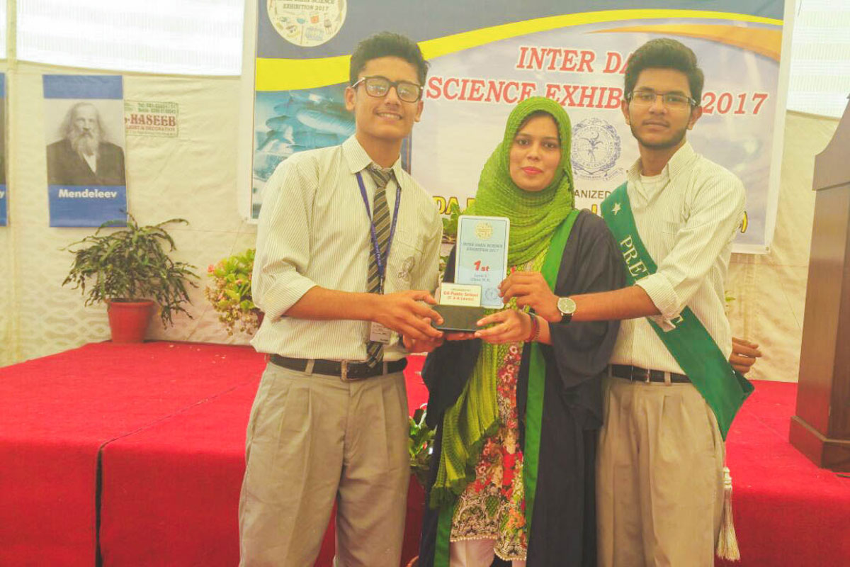 1st Position in Inter DAEIS Science Eexhibition Held in Oct 2017