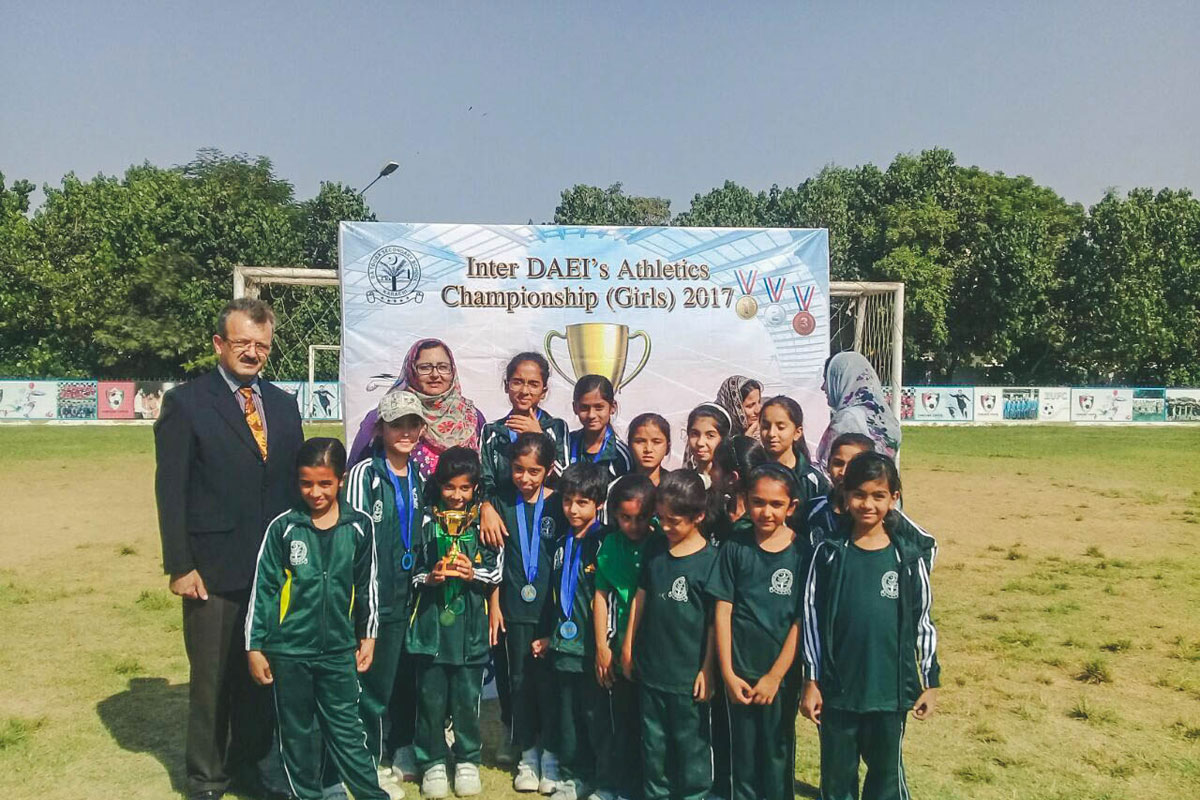2nd Position in the Inter DAEIS Girls Athletic Championship Organized by DHACSS Tooba Campus