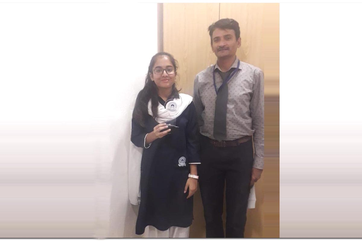 Safa Imran of Class VIII grabbed Third Position in All Karachi Arts Competition Nov 2019